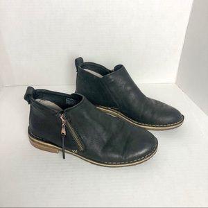 UGG   Black Leather Booties